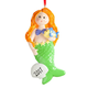 Personalized Mermaid Ornament, One Size