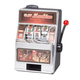 Small Slot Machine with Lights and Bank, One Size