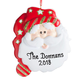 Personalized Christmas Santa Ornament, One Size