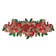 Deck the Halls Beaded Table Runner Centerpiece, One Size