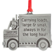 Truck Driver Pewter Ornament, One Size