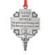 Nurse Pewter Ornament, One Size