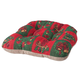 Reversible Holiday Checkers Chair Pad, One Size