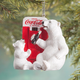 Coca-Cola Polar Bears at Vending Machine Ornament, One Size