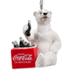 Coca-Cola Polar Bear with Cooler Ornament, One Size