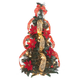2' Pull Up Fully Decorated Prelit Poinsettia Tree Holiday Pe, One Size