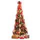 7' Fully Decorated Prelit Poinsettia Tree, One Size