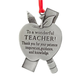 Teacher Pewter Ornament, One Size