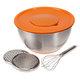Grate, Prep and Mixing Bowl with Bonus Whisk, One Size