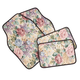 Floral Tapestry Car Mats Set of 4, One Size
