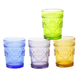 Victorian Style Colored Glassware Set of 4, One Size