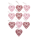 Valentine's Day Ornaments, Set of 10