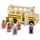 Melissa & Doug Wooden School Bus, One Size