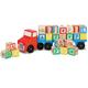Melissa & Doug Wooden Alphabet Truck, One Size