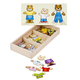 Melissa & Doug Wooden Bear Family Dress-Up Puzzle, One Size