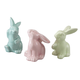 Ceramic Bunny Figurines, Set of 3, One Size