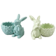 Ceramic Bunny Egg Cups, Set of 2, One Size