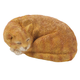 Resin Sleeping Cat Statue, One Size
