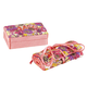 2 Pc. Mini Jewelry Box and Roll Organizer, One Size