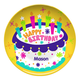 Personalized Happy Birthday Plate, One Size