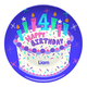 Personalized Happy 4th Birthday Plate, One Size