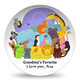 Personalized Trip to the Zoo Plate, One Size