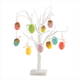 White Wire Tree and Easter Ornaments, Set of 10, One Size