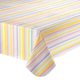 Easter Stripe Vinyl Table Cover, One Size