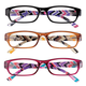 3 Pack Women's Reading Glasses, One Size