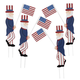 Uncle Sam Metal Yard Stakes, Set/4 by Fox River Creations™, One Size