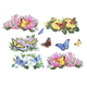 Butterfly Garage Door Magnets, One Size