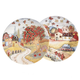 Country Folk Display Plates Set of 2, One Size