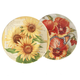 Flower Display Plates Set of 2, One Size