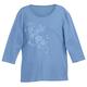 3/4 Sleeve Emboridered Shirt, One Size