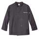 Chefs Jacket Black Personalized, One Size