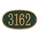 Fast & Easy Oval House Number Plaque, One Size
