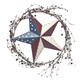 American Barn Star Berry Wreath, One Size