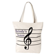 Personalized Musical Note Tote Bag, One Size