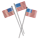 Metal American Flag Planter Stakes, Set of 3 by Maple Lane C, One Size