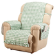 Gingham Recliner Protector with Straps & Pockets, One Size