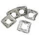 Gas Foil Burner Liners Square Set/10, One Size