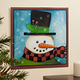 12x12 Snowman Metal Wall Plaque