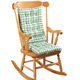Gingham Rocking Chair Cushion Set by OakRidge™, One Size