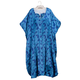 Blue Floral Caftan with Matching Hanger, One Size