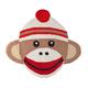 Sock Monkey Rug, One Size