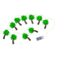 Palm Tree String Lights, 10 Count, One Size