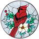 Cardinal Suncatcher, One Size, Multicolor