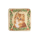Floral Kitten Tapestry Pillow Cover, One Size