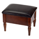 Faux Leather Wooden Foot Rest with Storage by OakRidge™, One Size