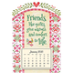 Mini Magnetic Quilts Calendar, One Size